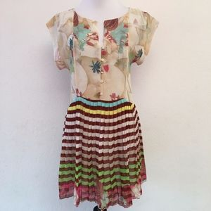 Farm Anthropologie Floral Dress Size Small